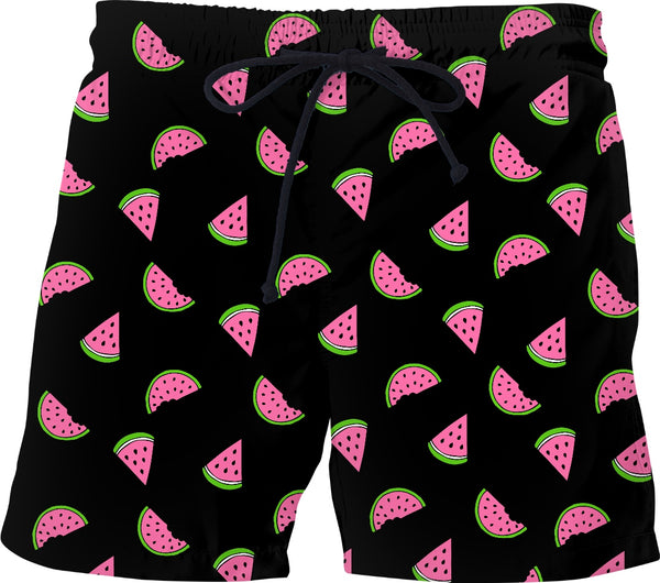 7688bcc232 Mens Watermelon Black Swim Shorts Mens Swimwear Bathing Suit With Liner.  Sale price $47.99 Regular price $69.99 Sale. Gift For Cat Lover Kitty  Collage ...