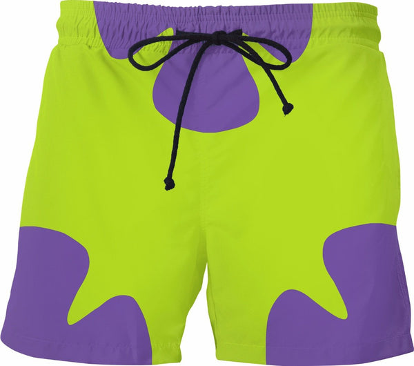 f79e928e2888b Patrick Star 90's kids 2000's Childhood Cartoon Funny Swim Trunks With  Lining - Swim Shorts