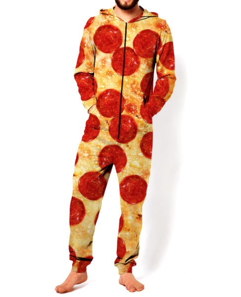 Pizza Jumpsuit Funny Pajamas For Men Or Women -2557
