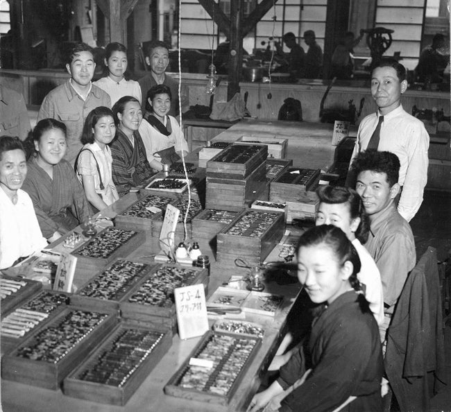 Platinum Pen factory circa 1942