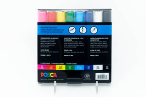 POSCA PC-5M paint markers, set of 8Mitsubishi Pencil Co.