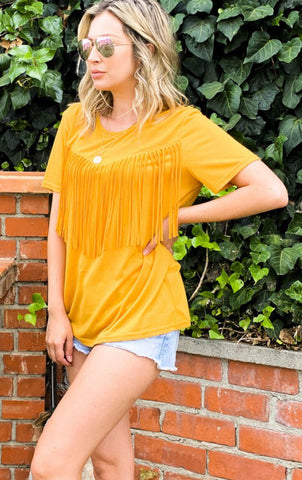 The Turnpike - fringe top ( READY TO SHIP 8/5)
