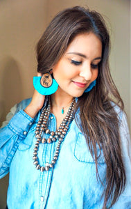 The Devine Earrings - Turquoise