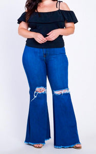 The Buckeye - plus size bell bottoms READY TO SHIP