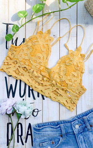 The Layla Bralette - MUSTARD