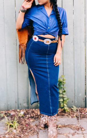 The Kickapoo Denim Maxi