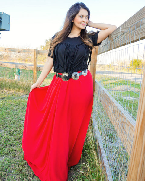 The Rogue - black concho belt