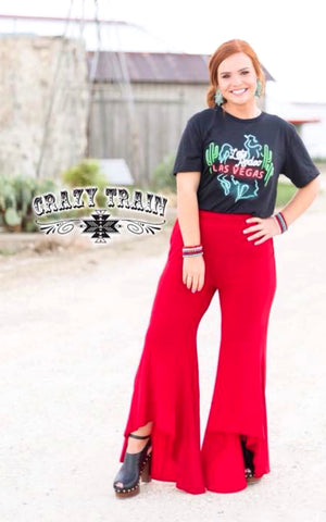 The Paltrow Pant - red