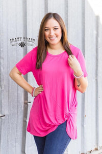 The Paige - pink knot top