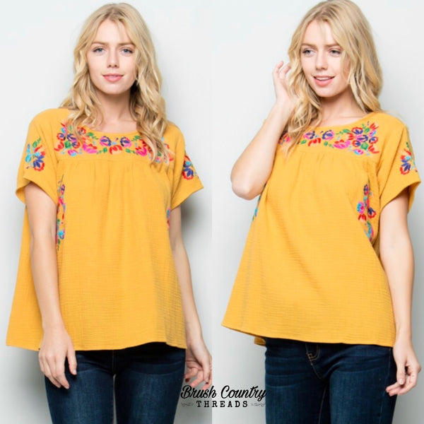 The Maricopa - embroidered top