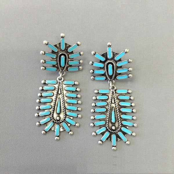 The Dallas - turquoise earrings