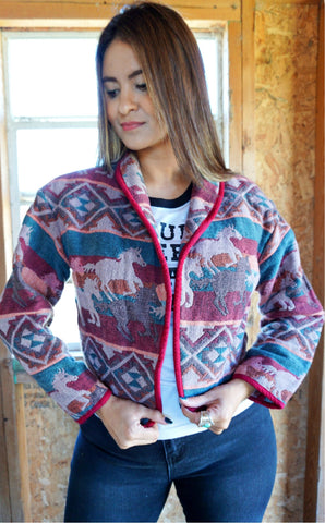 Vintage Crazy Cowgirl Jacket - Large