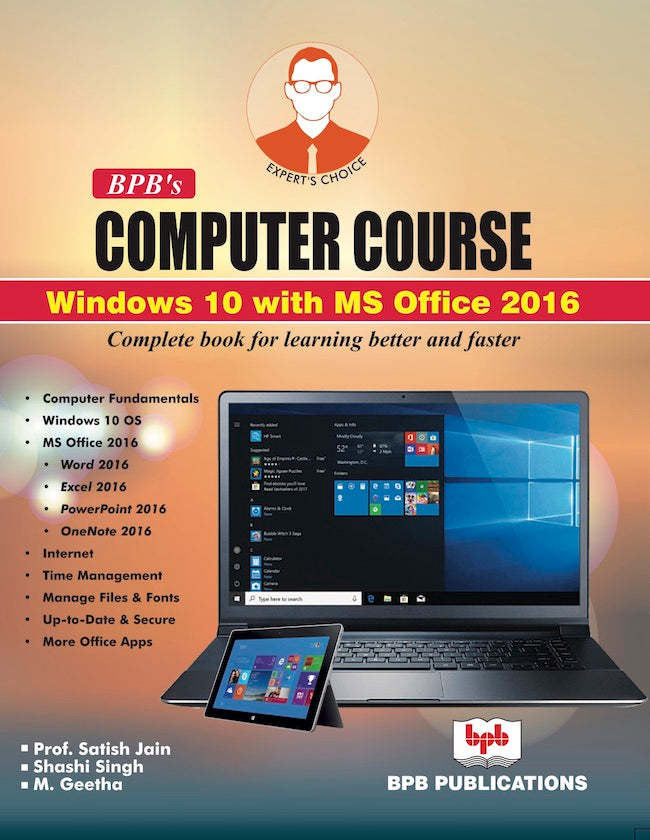 BPB's Computer Course Windows 10 with MS Office 2016.