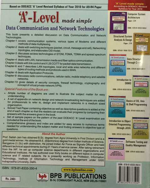 Data Communication and Network Technologies By BY PROF  SATISH JAIN