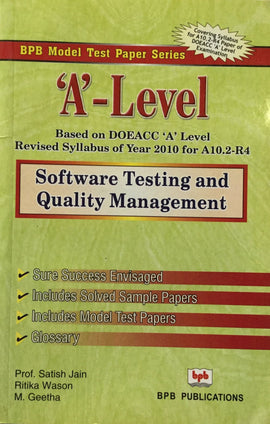 Software Testing and Quality Management Model test paper By Prof. Satish Jain, R. Wason, M. Geetha