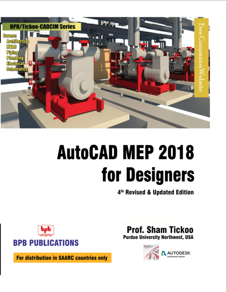 autocad mep 2018 for designers 4th revised updated. Black Bedroom Furniture Sets. Home Design Ideas