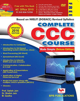 Complete CCC Course ( Includes CCC + How Computer Works + Office 2010 DVD) By Satish Jain