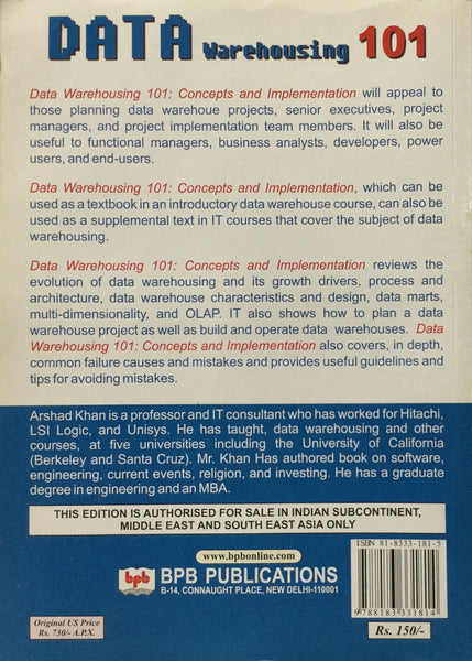 Data Warehousing 101 Concepts and Implementation By Arshad Khan