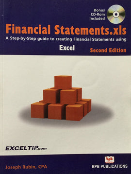 Financial Statements.xls Excel - 2nd Edition By Joseph Rubin