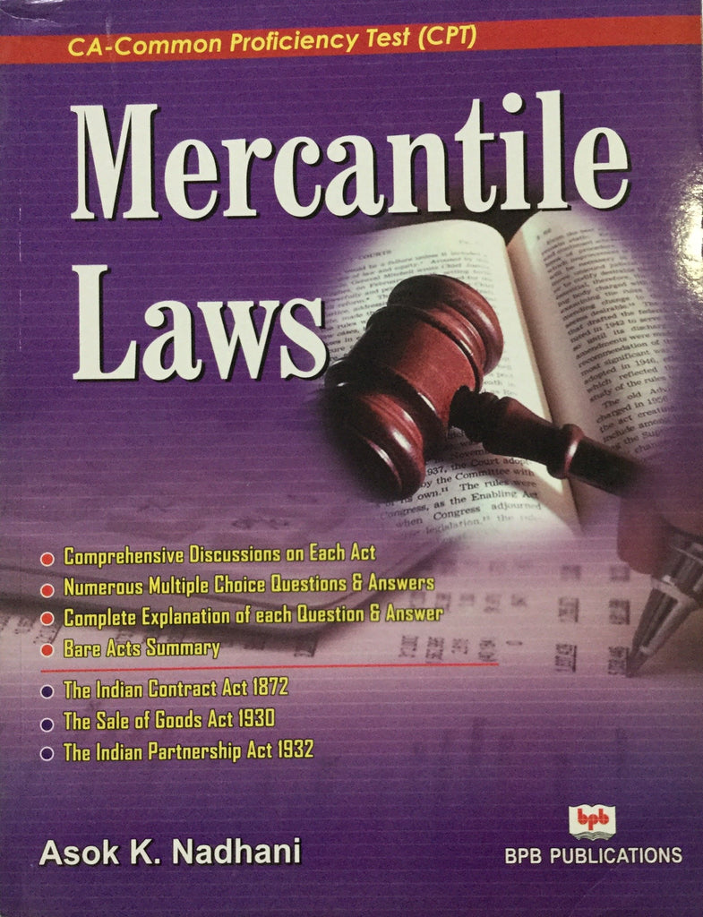 Mercantile Laws By Asok K. Nadhani