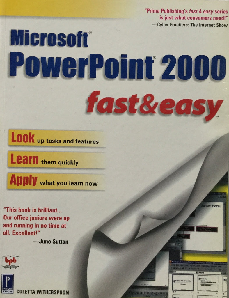 Microsoft Power Point 2000 Fast & Easy By Coletta Witherspoon