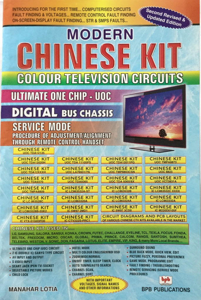 modern chinese kit colour tv circuit by manahar lotia bpb publications