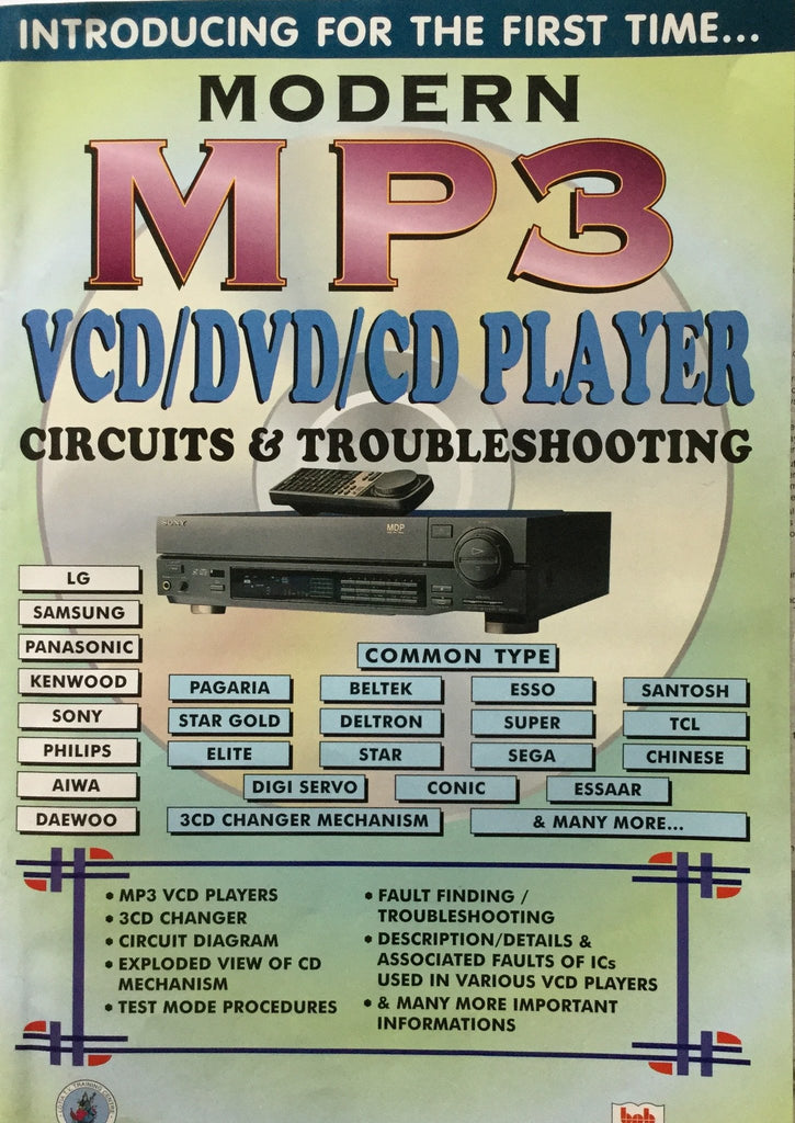 Modern MP3 VCD/DVD/CD Player Circuits and Troubleshooting by Manahar Lotia