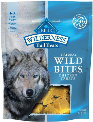 Blue Buffalo Wilderness Grain Free Bites Chicken Dog Treats