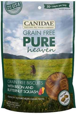 Canidae Grain Free PURE Heaven Biscuits with Bison and Butternut Squash Dog Treats