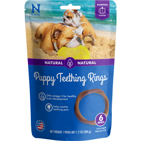 N-Bone Puppy Teething Rings Pumpkin Flavor Dog Treats