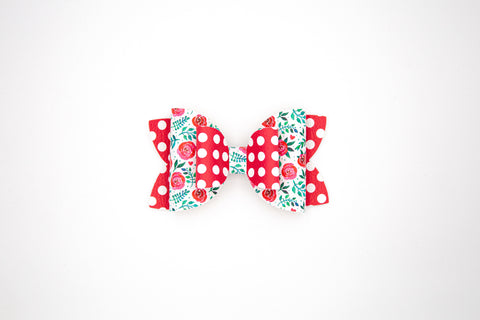 Valentine Double Stack Diva Bow #10