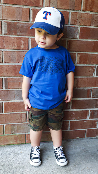 True Royal  JAX Montage Tee -- Toddler