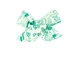 Emerald City Handmade Fabric Bow -- Love, Nana