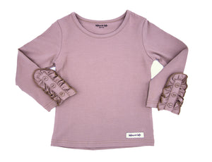 Bettie Buttons Tee in Dusty Mauve