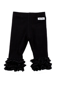 Iris Ruffle Leggings in Black