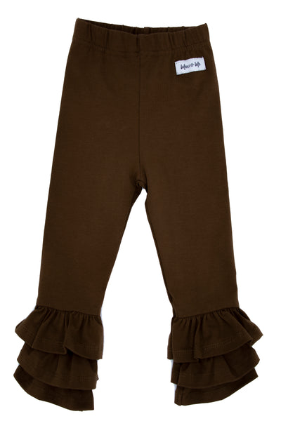 Brown Rosie Ruffle Pants