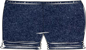 DENIM Ava Ruched Undershorties PRE-ORDER