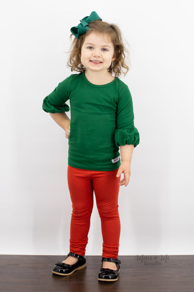 Ava Ruched Leggings in Vintage Red