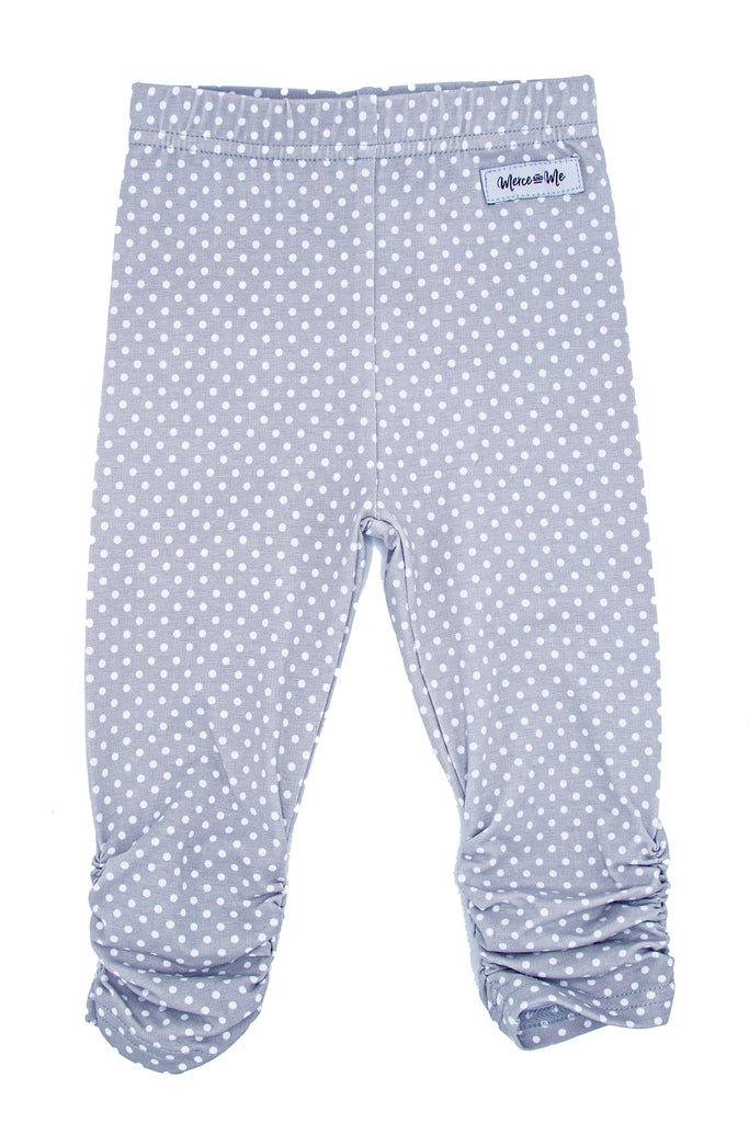 Gray Dots Ava Ruched Leggings