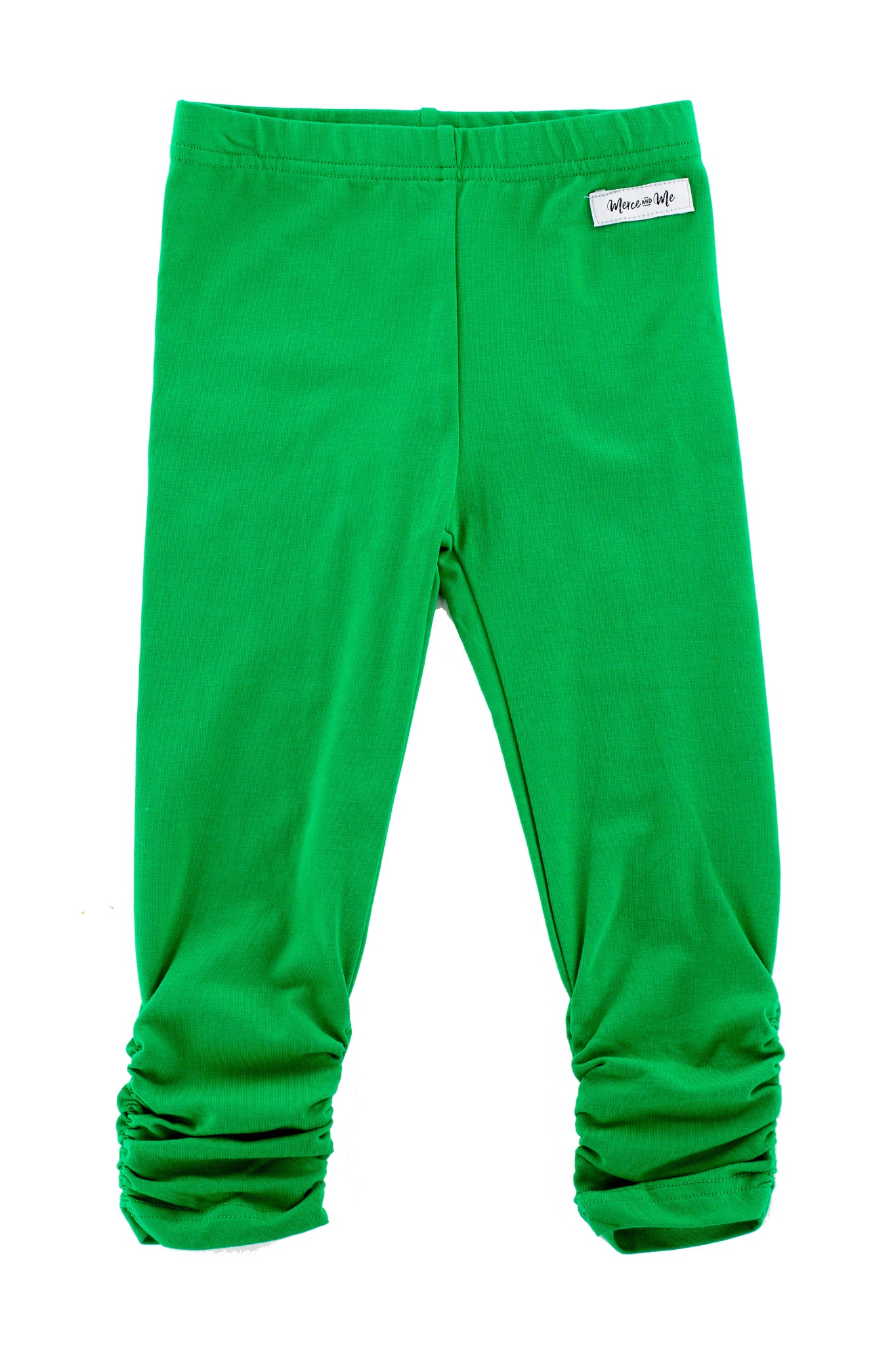 Ava Ruched Leggings in Green