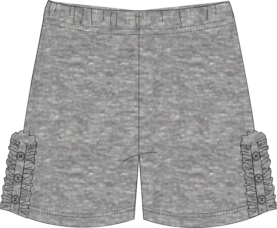 HEATHER GRAY Bettie Buttons Shorties PRE-ORDER