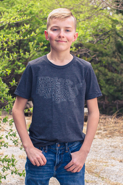 Dark Gray Heather JAX Montage Tee -- Toddler