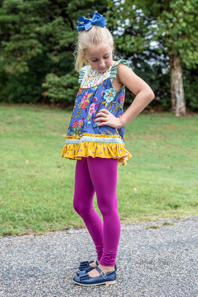 Plum Ava Ruched Leggings