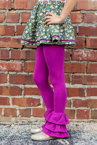 Rosie Ruffle Pants in Plum