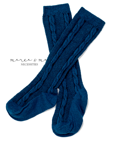 Blue Juniper Ivy Knee High Socks