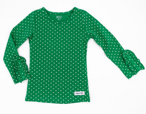 Green Dot Bettie Buttons Tee