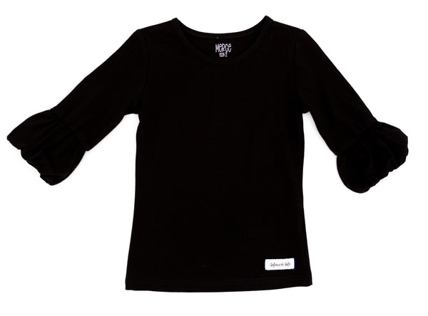 Black Polly Puffer Tee