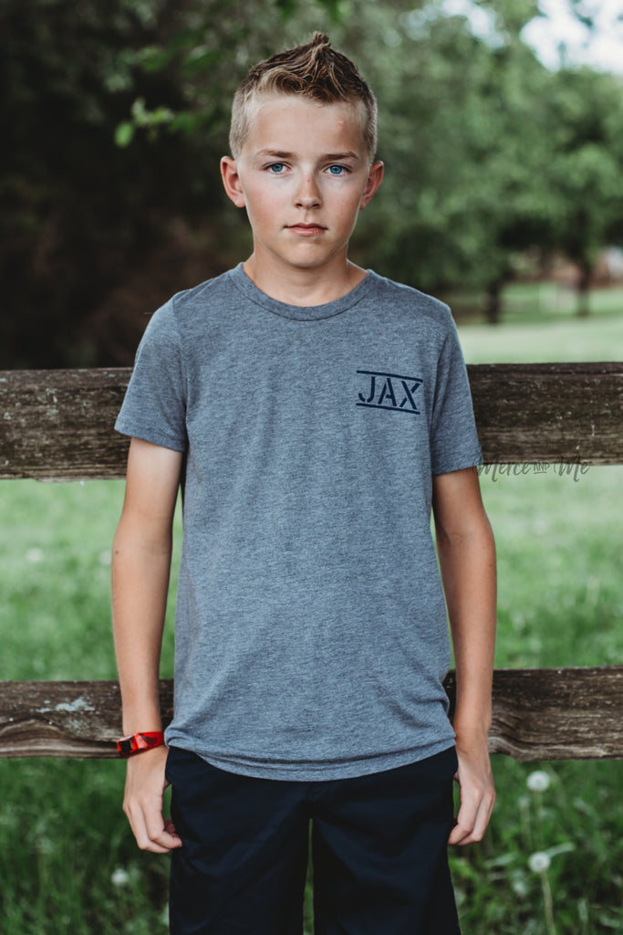 JAX Flag tee in Light Gray