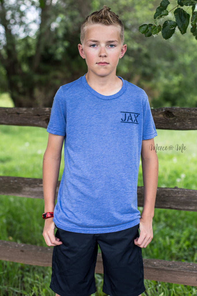 JAX Flag tee in Blue