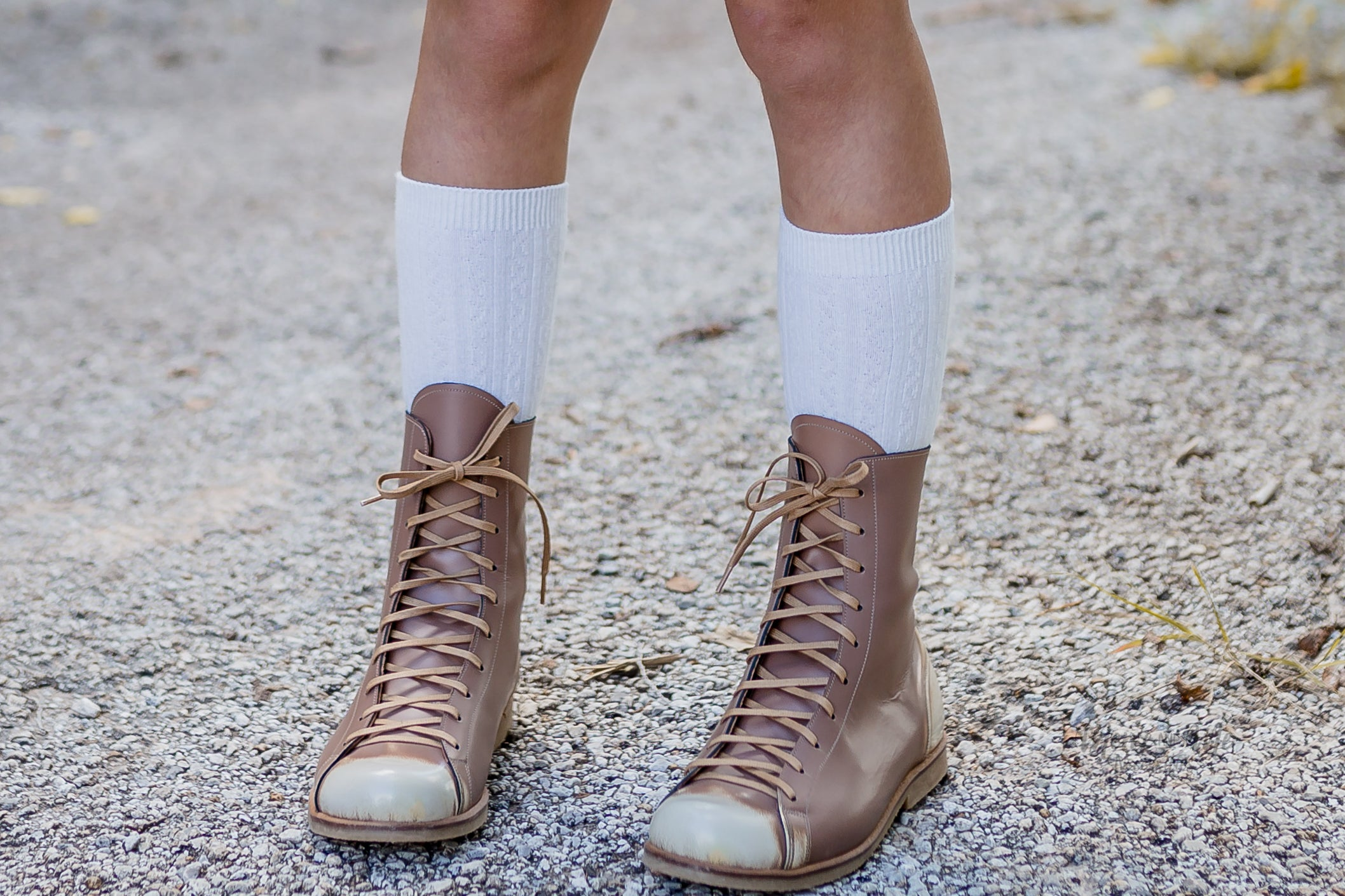 1fdabfc9802 Laurel White cable knit knee highs